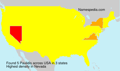 Surname Paulidis in USA