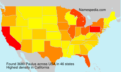 Surname Paulus in USA