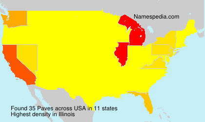 Surname Paves in USA