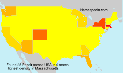 Surname Pazolt in USA