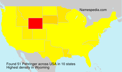 Surname Pehringer in USA