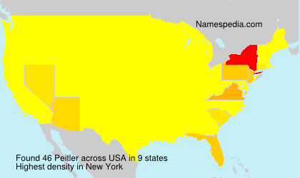 Surname Peitler in USA