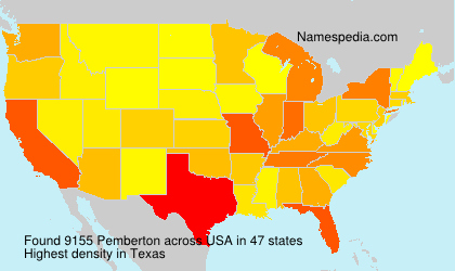 Surname Pemberton in USA