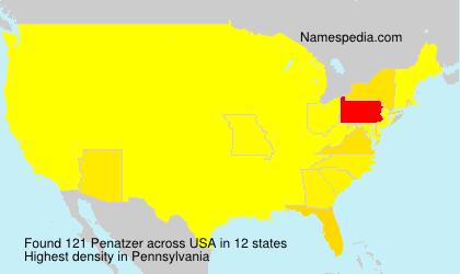 Surname Penatzer in USA