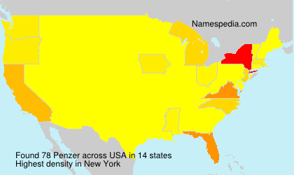 Surname Penzer in USA