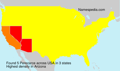 Surname Perezarce in USA