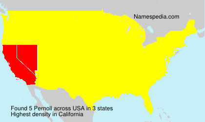 Surname Pernoll in USA
