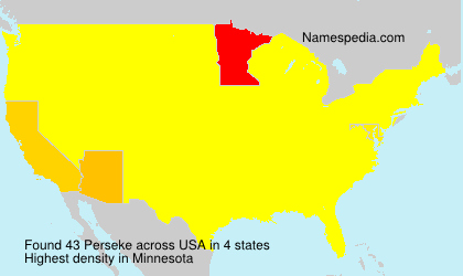 Surname Perseke in USA