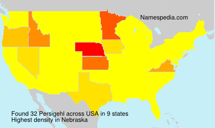 Surname Persigehl in USA