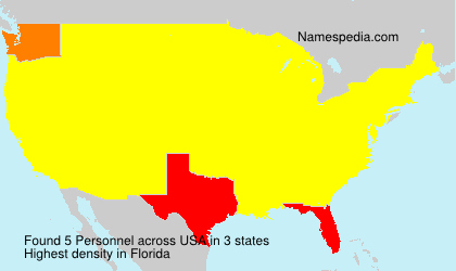 Surname Personnel in USA