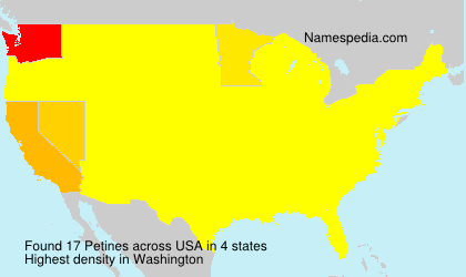 Surname Petines in USA