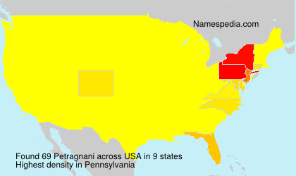 Surname Petragnani in USA