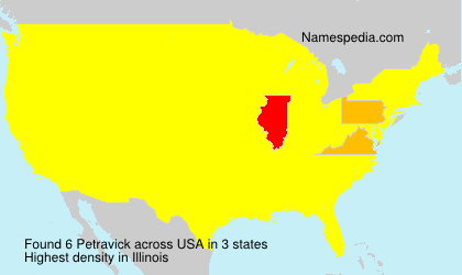Surname Petravick in USA