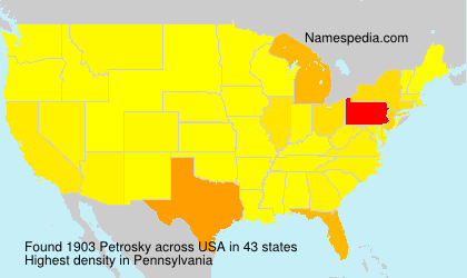 Surname Petrosky in USA