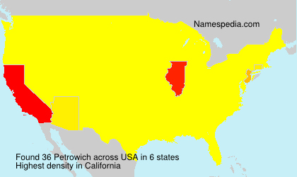 Surname Petrowich in USA