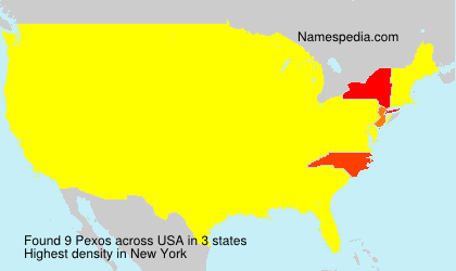 Surname Pexos in USA