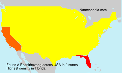Surname Phanithavong in USA