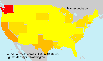Surname Pheth in USA