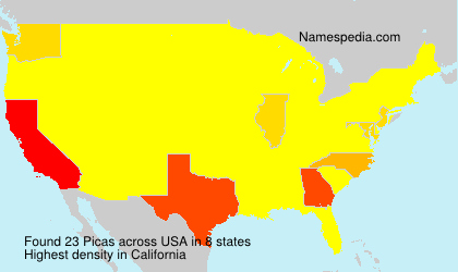 Surname Picas in USA