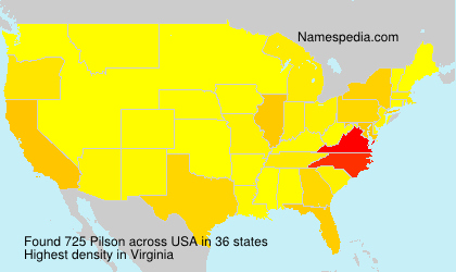 Surname Pilson in USA