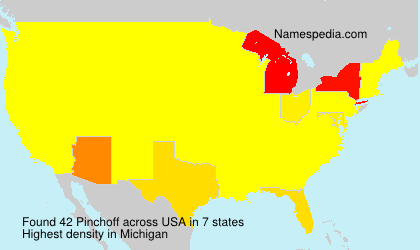 Surname Pinchoff in USA