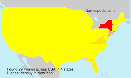 Surname Pinnisi in USA