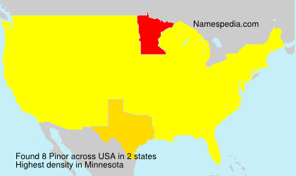 Surname Pinor in USA