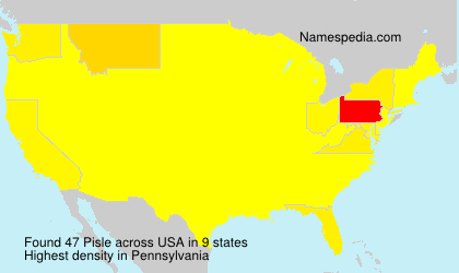 Surname Pisle in USA