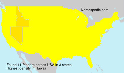 Surname Pladera in USA
