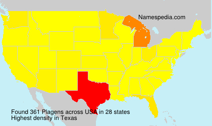 Surname Plagens in USA