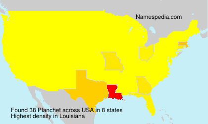 Surname Planchet in USA