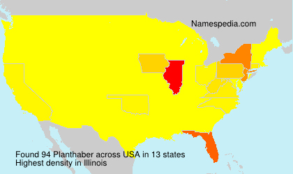 Surname Planthaber in USA