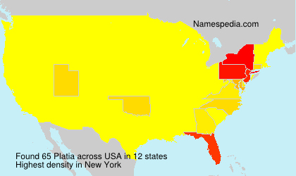 Surname Platia in USA