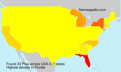 Surname Plua in USA