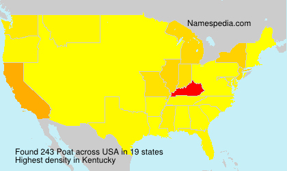 Surname Poat in USA