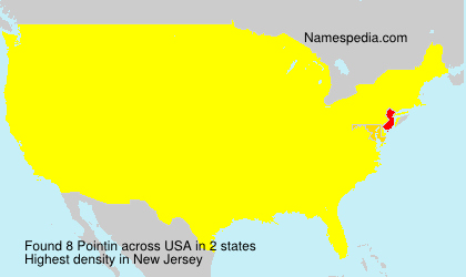 Surname Pointin in USA