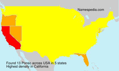 Surname Ponso in USA