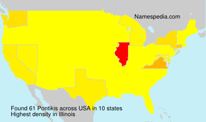 Surname Pontikis in USA