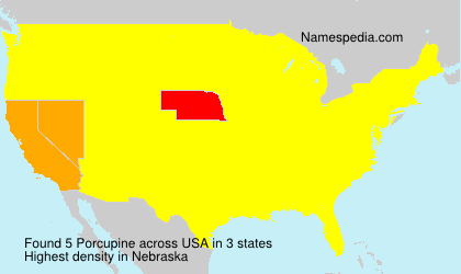 Surname Porcupine in USA