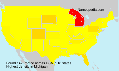 Surname Portice in USA