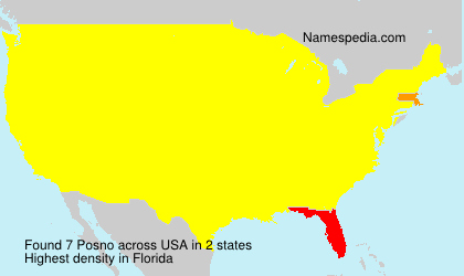 Surname Posno in USA