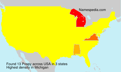Surname Pospy in USA