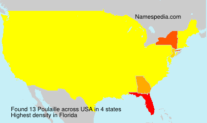 Surname Poulaille in USA