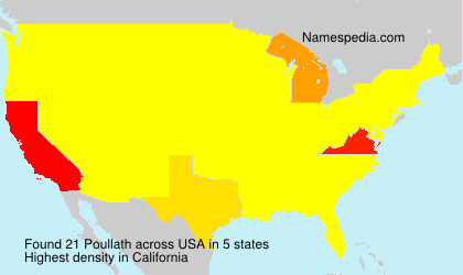 Surname Poullath in USA