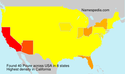 Surname Poure in USA