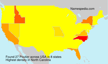 Surname Poutier in USA