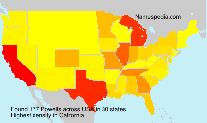 Surname Powells in USA