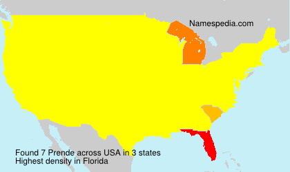 Surname Prende in USA