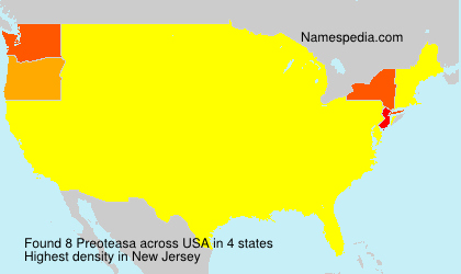 Surname Preoteasa in USA