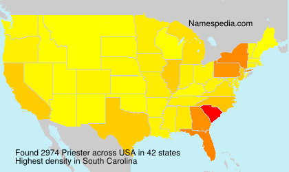 Surname Priester in USA